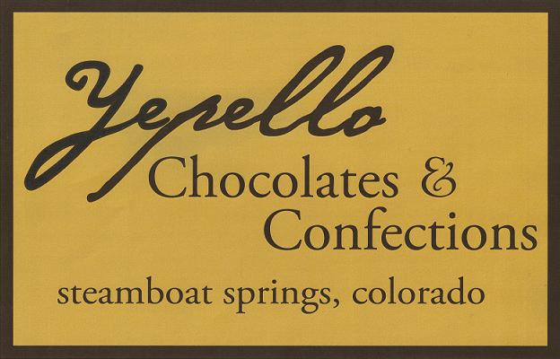 yepello chocolates and confections, steamboat springs co  chocolates@yepello.com  970-736-0487